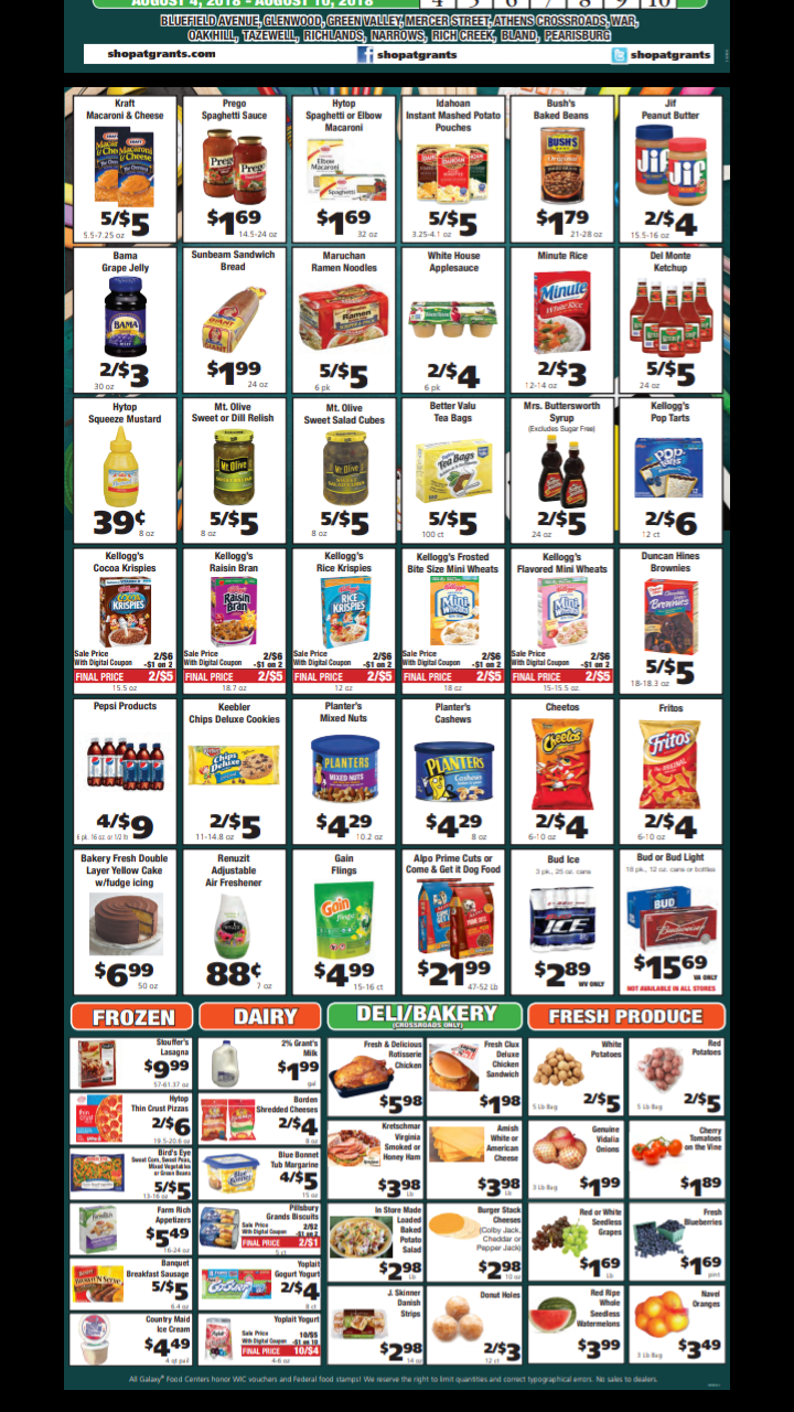 offers Grants supermarkets weekly valid from 4 8 2018 until
